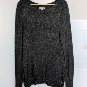 Calvin Klein Metallic Sweater w Zippers